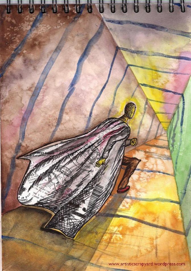 Painting: 'Passport to Nowhere / The Passport Man'